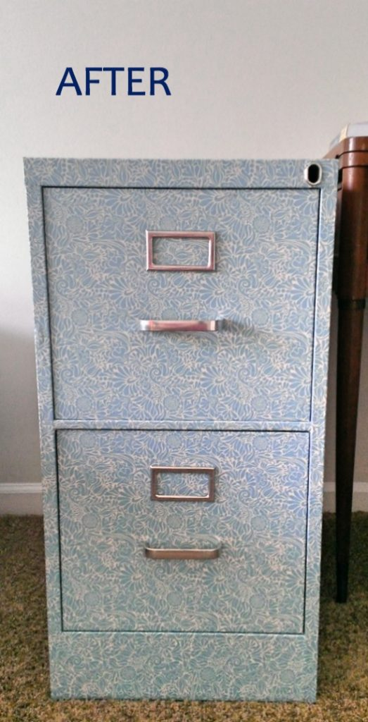 File cabinet after the makeover.