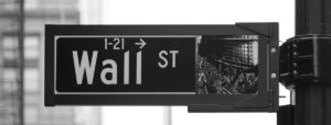 Wall Street street sign the empress woman