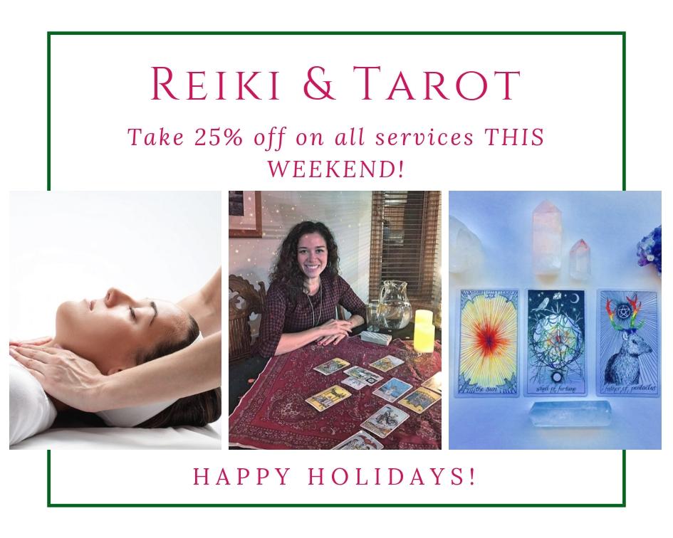 Reiki tarot sale happy holidays self care