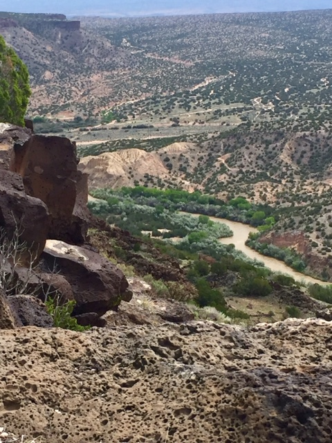 View from Overlook Park of canyon and Rio Grande